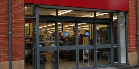 Aluminium shop fronts